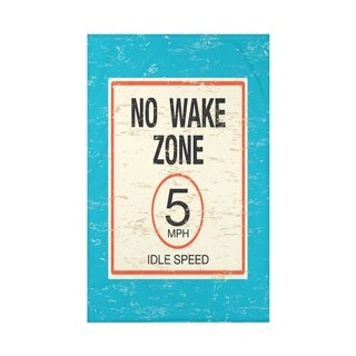 No Wake Word Print 50x60-inch Throw Blanket