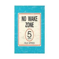 No Wake Word Print 50x60-inch Throw Blanket