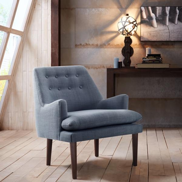 Madison Park Elsa Blue Mid Century Accent Chair