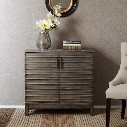 "Madison Park Cain Grey Ridge Accent Chest - 36""W x 14""D x 34""H"
