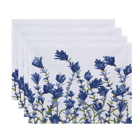 Lavender Floral Print 18x14-inch Placemat