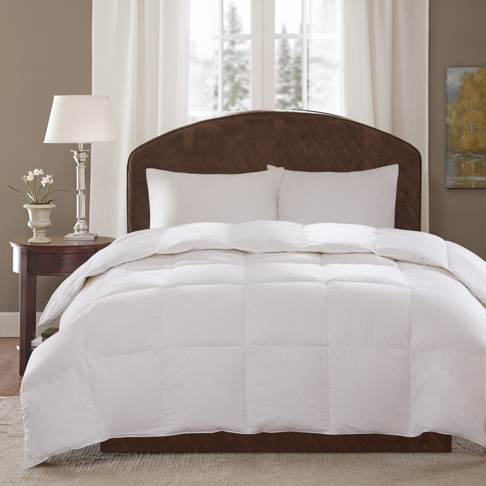 oversized down free count hotel shipping cotton today number comforter product bath thread white sleep bedding egyptian overstock grand