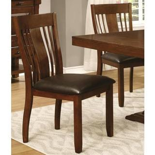 Oxford Transitional Mission Style Dinning Chairs (Set of 2)