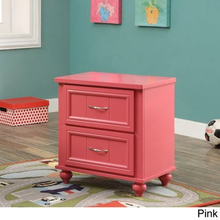 Furniture of America Alicia Cottage Style 2-drawer Youth Nightstand (Option: Pink)