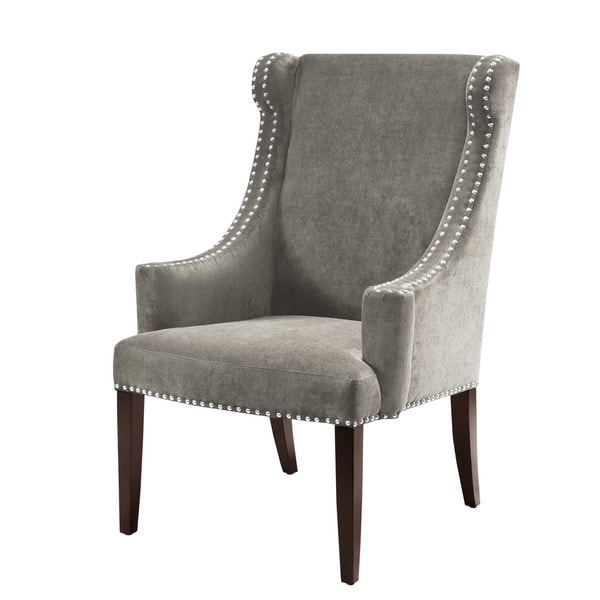 Madison Park Lucy High Back Wing Chair Dark Grey Free