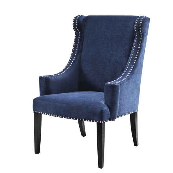 Madison park lucy high back wing chair blue 17880210 - High back wing chairs for living room ...