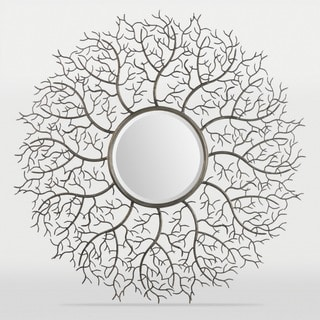 Inspire Q Pollock Spinning Nest Silver Finish Accent Wall