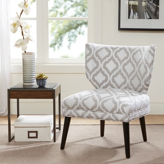Madison Park Harlyn Armless Retro Wing Chair--Grey