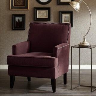 Madison Park Charlie Purple Track Arm Club Chair