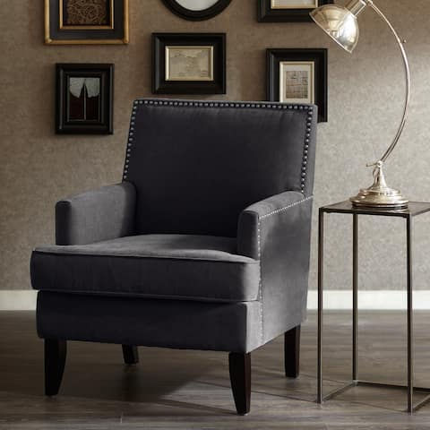 Madison Park Charlie Track Arm Club Chair--Charcoal