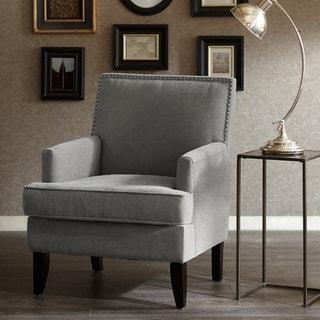 Madison Park Charlie Track Arm Club Chair--Grey