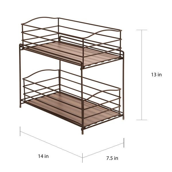 Shop Seville Classics Bronze 2-Tier Sliding Basket Drawer ...