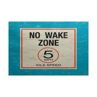 No Wake Word Print Area Rug (5' x 7')