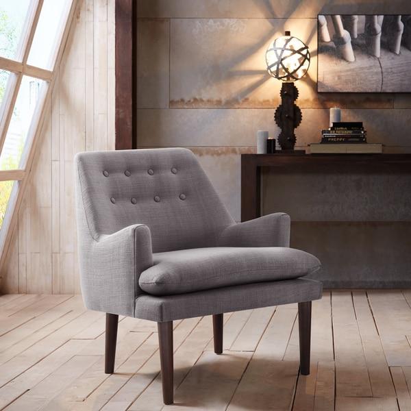 Madison Park Elsa Grey Mid-Century Accent Chair
