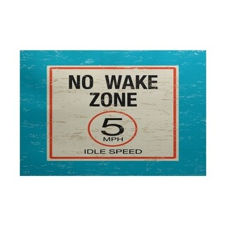 No Wake Word Print Area Rug (4' x 6')
