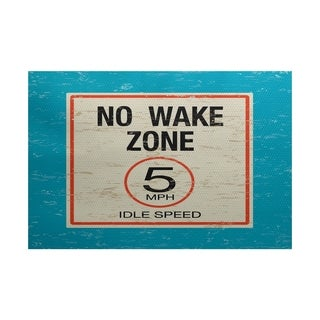 No Wake Word Print Area Rug (2' x 3')