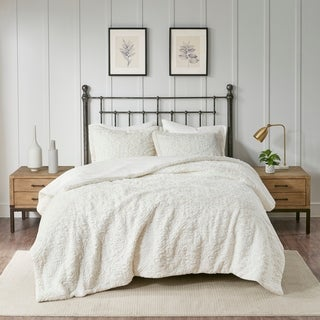 Link to Madison Park Syracuse Ivory Ultra Plush Comforter Set Similar Items in Comforter Sets