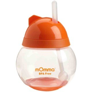 Lansinoh Orange Momma Straw Cup