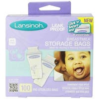 Lansinoh Breastmilk Storage Bags (Pack of 100)