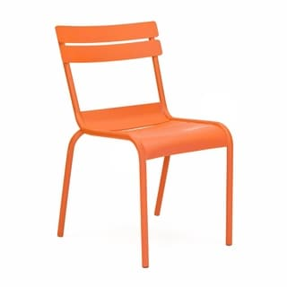 Chatou Orange Stackable Metal Side Chair (Set of 4)