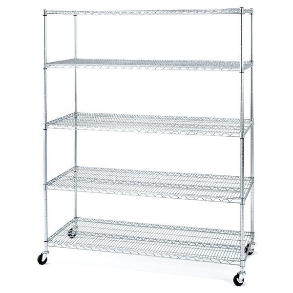 Seville Classics 5-tier Shelving System with Wheels