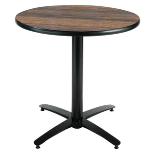 30-inch Round Pedestal Table - Arched X-Base