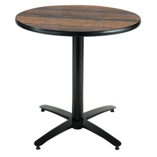 KFI Seating 30in Round Pedestal Table, Arched X-Base