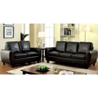 Furniture of America Tawnee Modern Leatherette 2-piece Sofa Set
