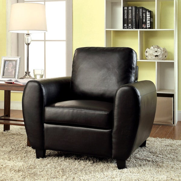 Cheap Sofas Free Shipping: Shop Furniture Of America Tawnee Modern Leatherette Club