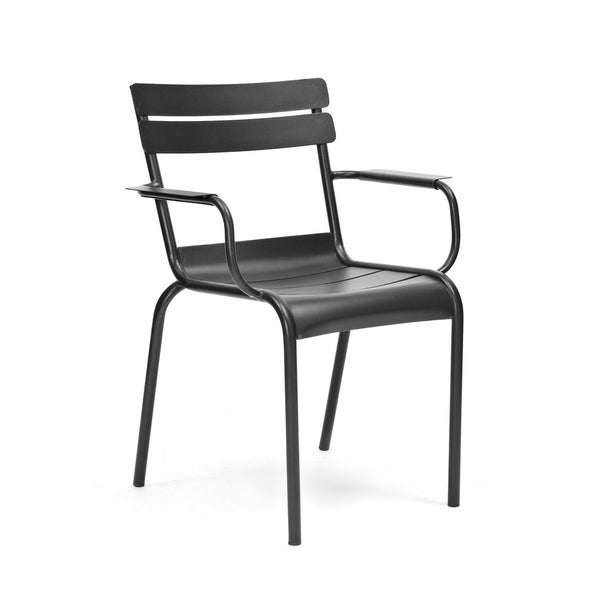 shop chatou black stackable metal dining chair set of 4 free shipping today. Black Bedroom Furniture Sets. Home Design Ideas