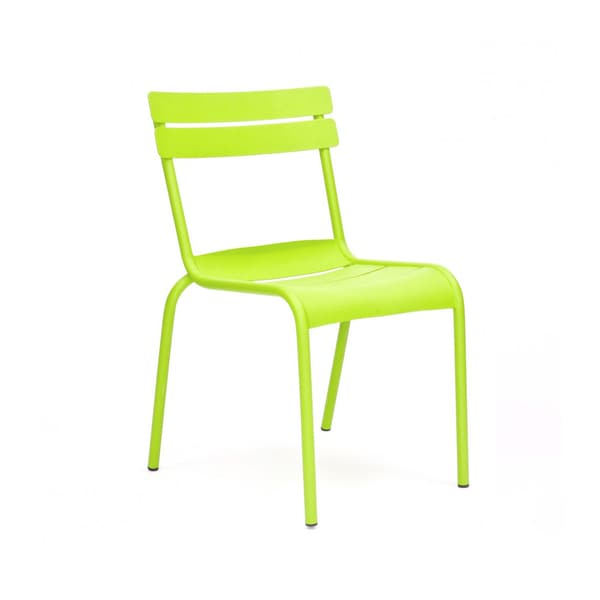 chatou lime stackable metal dining chair set of 4