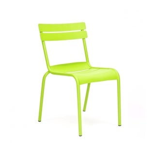 Chatou Lime Stackable Metal Side Chair (Set of 4)