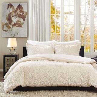Madison Park Albany Ultra Plush Ivory 3-piece Comforter Set