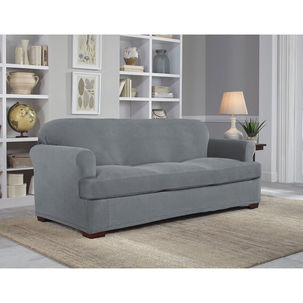 Shop Tailor Fit Stretch Grid Slipcover T Sofa On Sale
