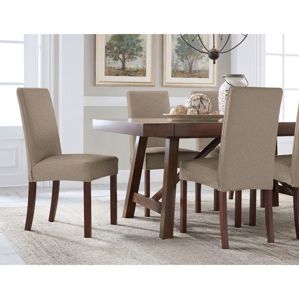 Tailor Fit Reversible Stretch Suede Slipcover Dining Chair Short