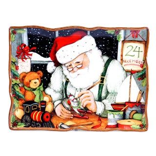 "Certified International - Santa's Workshop Rectangular Platter 16"" x 12"""