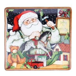Certified International - Santa's Workshop Square Platter 12.5-inch