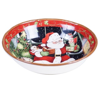 "Certified International - Santa's Workshop Serving / Pasta Bowl 12.5"" x 3"""