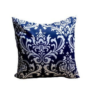 Navy Blue Damask 18-inch Pillow Cover