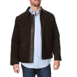 West End Young Men's 'Weston' Dark Brown Zip-front Winter Jacket Large Size in Dark Brown (As Is Item)