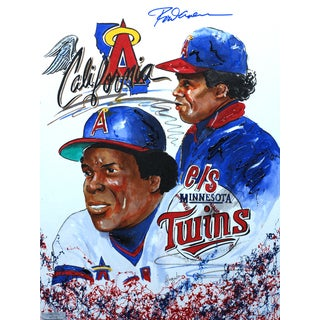 Gary Longordo Rod Carew Autographed Sports Painting