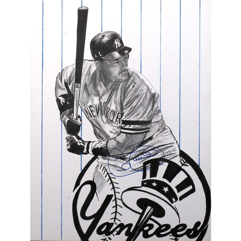 Cecil Fielder Autographed Sports Memorabilia Painting by Gary Longordo