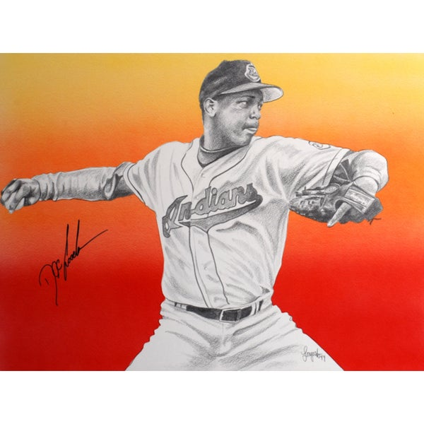 Dwight 'Doc' Gooden Autographed Sports Memorabilia Painting by Gary Longordo