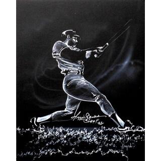 Autographed Reggie Jackson Sports Painting by Gary Longordo