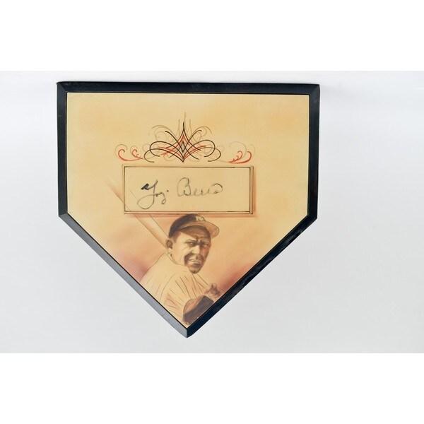 Yogi Berra Autographed Home Plate and Portrait