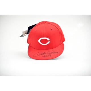 Pete Rose 4256 Autographed Cincinnatti Team Baseball Hat