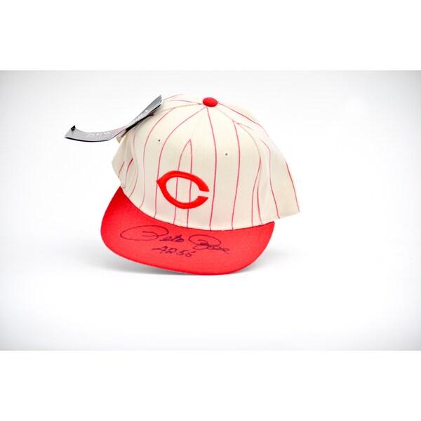 Pete Rose 4256 Autographed Cincinnatti Baseball Hat