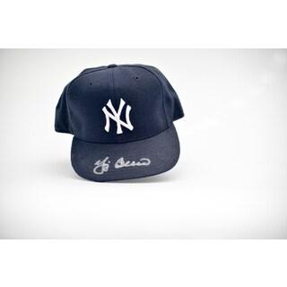 Yogi Berra Autographed Yankees Team Base Ball Hat