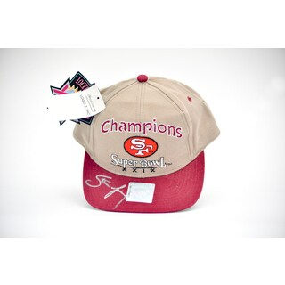 Steve Young Autographed Super Bowl Champion San Francisco 49ers Team Baseball Hat