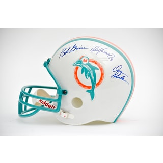 Marino, Shula, Griese Autographed Dolphins Helmet